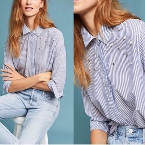 Rails Striped Pearls Taylor Button Down Shirt